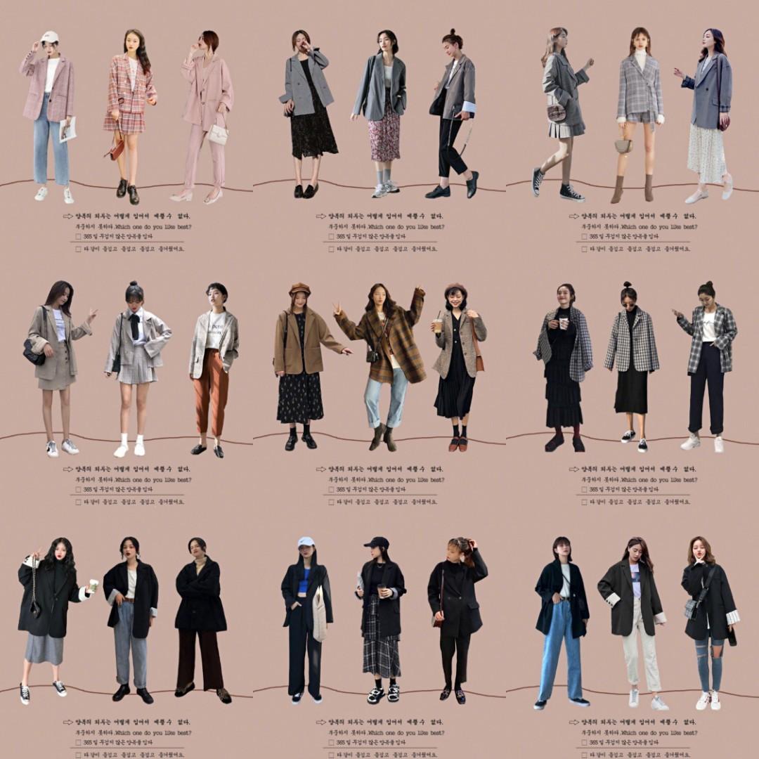 #OOTD#👩👩👧👧春季穿搭最少不了的就是西装外套了,集美们快来看~