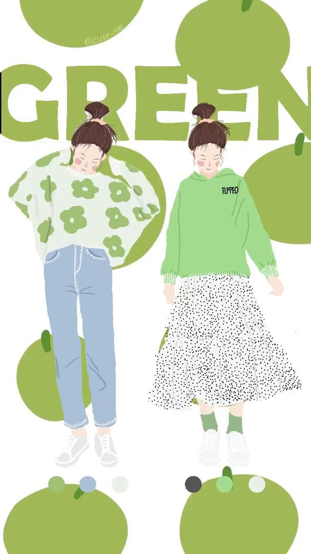 边画画边穿搭 绿色的小花我超爱 你们呢 #2020必入春夏单品#