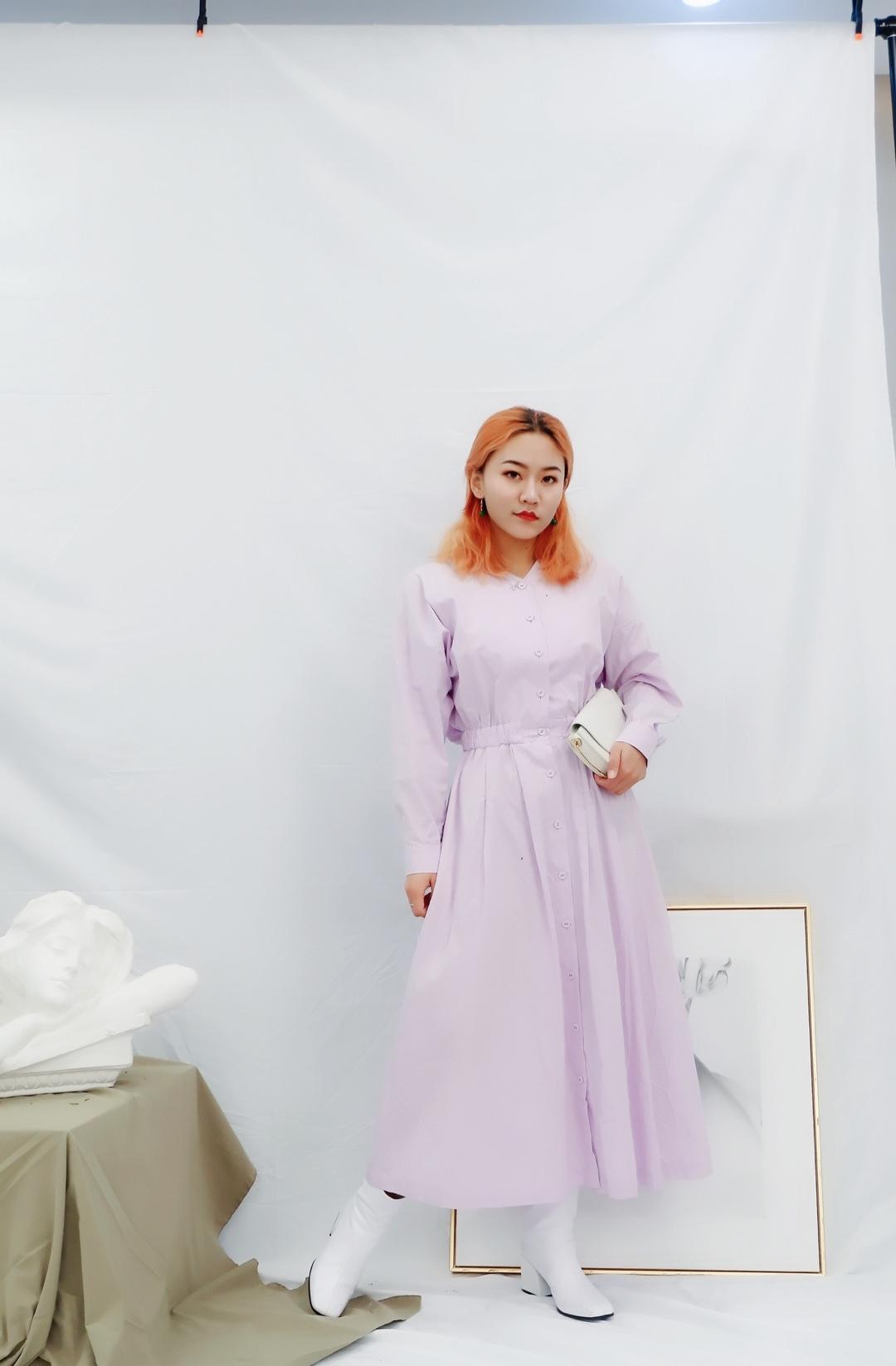 香芋紫色的连衣裙 整个人都变的好温柔哦~ 春天的味道就是浪漫的紫色调 #2020连衣裙穿搭图鉴#