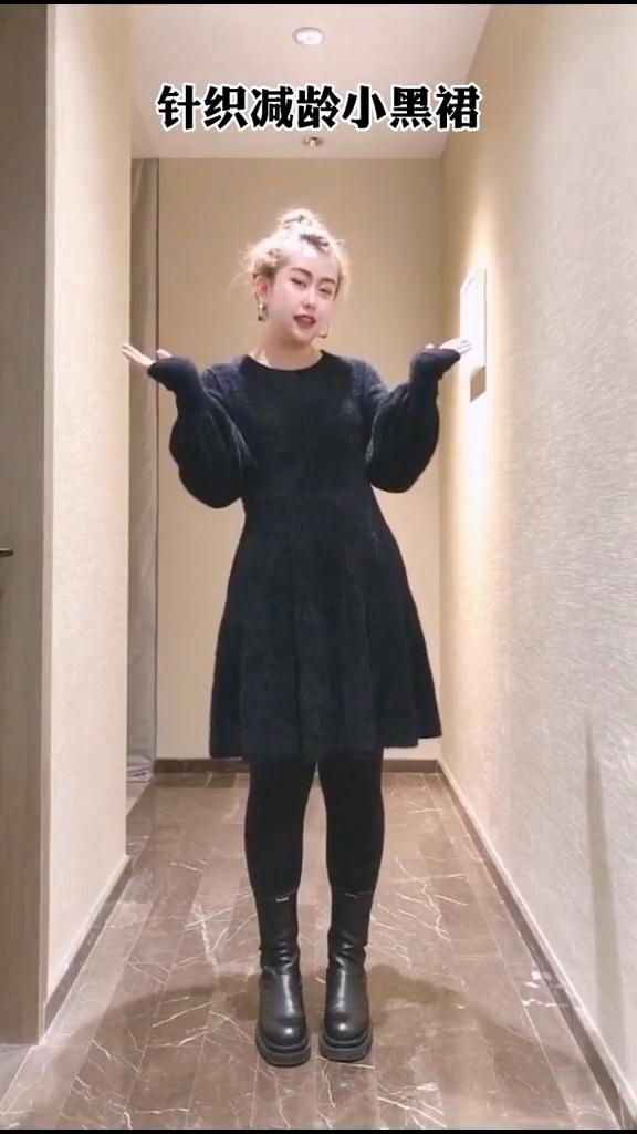 都说黑色连衣裙显瘦,但是款式你选对了吗?大码搭配 #春日色彩感穿搭#