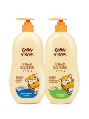 【月月1992】小浣熊儿童亲护洗发沐浴露600ml*2瓶装