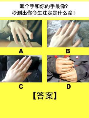 哪只手和你的最像?秒测出你今生注定的命 #全民搭配挑战赛#