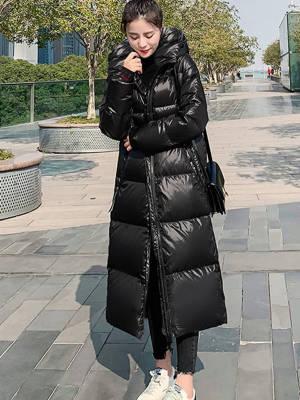 【黑皮雪梨呀呀】免洗长过膝冬季韩版宽松加厚2020年羽绒棉衣 #微胖女生穿搭#