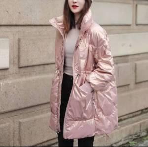 炫彩羽绒棉服女潮秋冬季2020新款收腰中长款棉衣外套加厚棉袄
