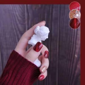 气质红色猫眼美甲🔖 ——你是春节不能错过的石榴酒红色[福]GD270